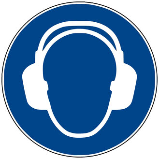 """Gebotszeichen """"Gehörschutz benutzen"""" nach DIN EN ISO 7010"""