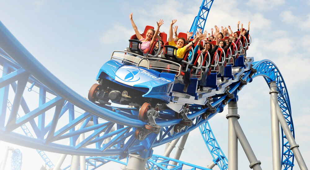 PRK Start Rollercoaster Achterbahn Bluefire